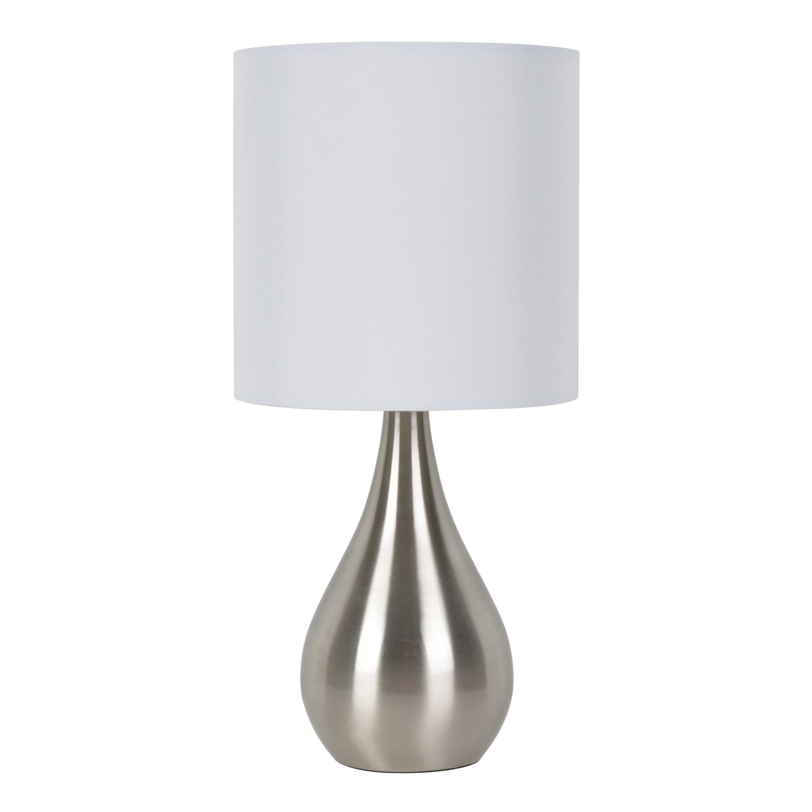 Elegant Essential Home Chrome Accent Lamp With Shade