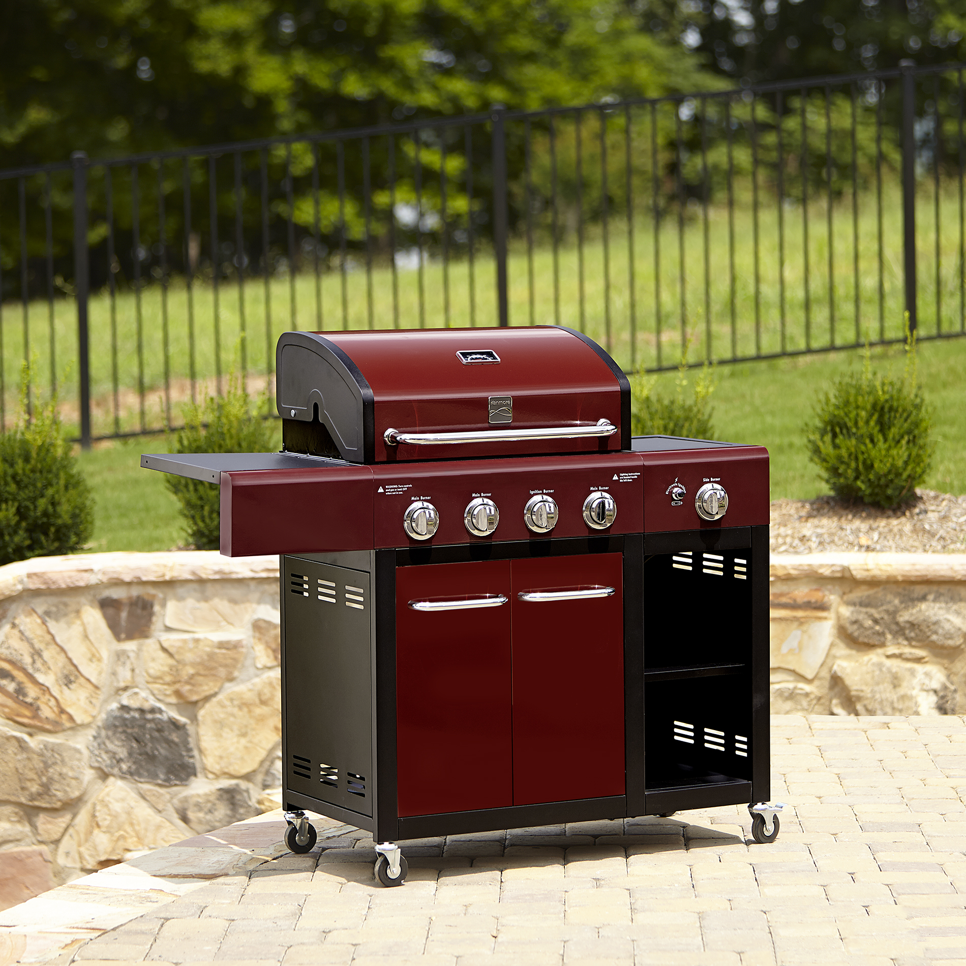 Kenmore 4 Burner Red Gas Grill with Storage* Limited Availability