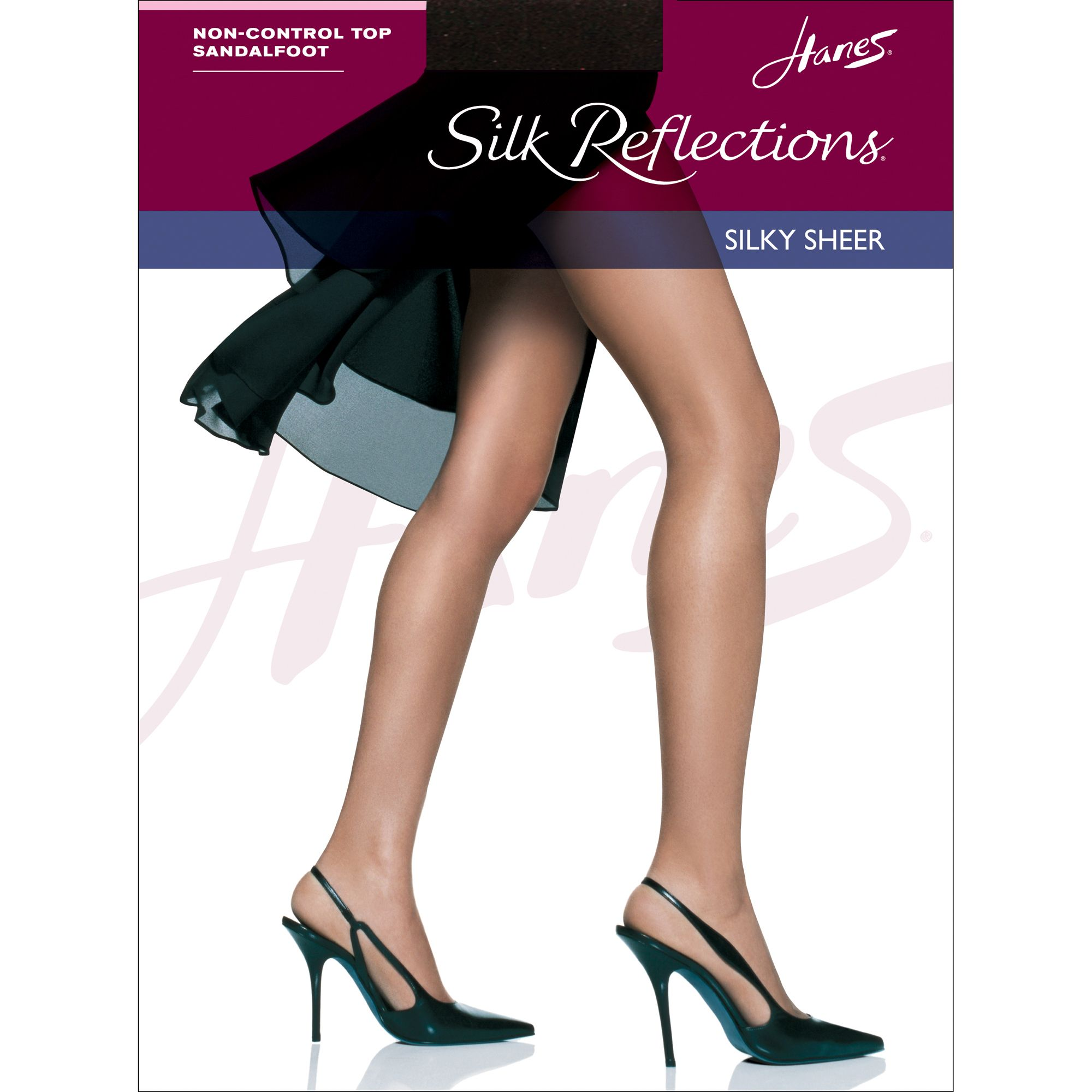 Hanes Pantyhose Silky Sheer Non Control Top Sandal Foot PartNumber: 075J2325000P MfgPartNumber: 075J2325000