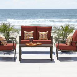 Ty Pennington Style Marco Island 4 Piece Seating Set- Rust at Kmart.com