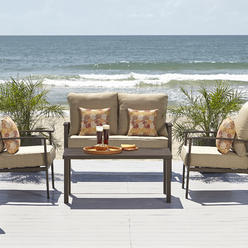 Ty Pennington Style Marco Island 4 Piece Seating Set- Beige at Kmart.com