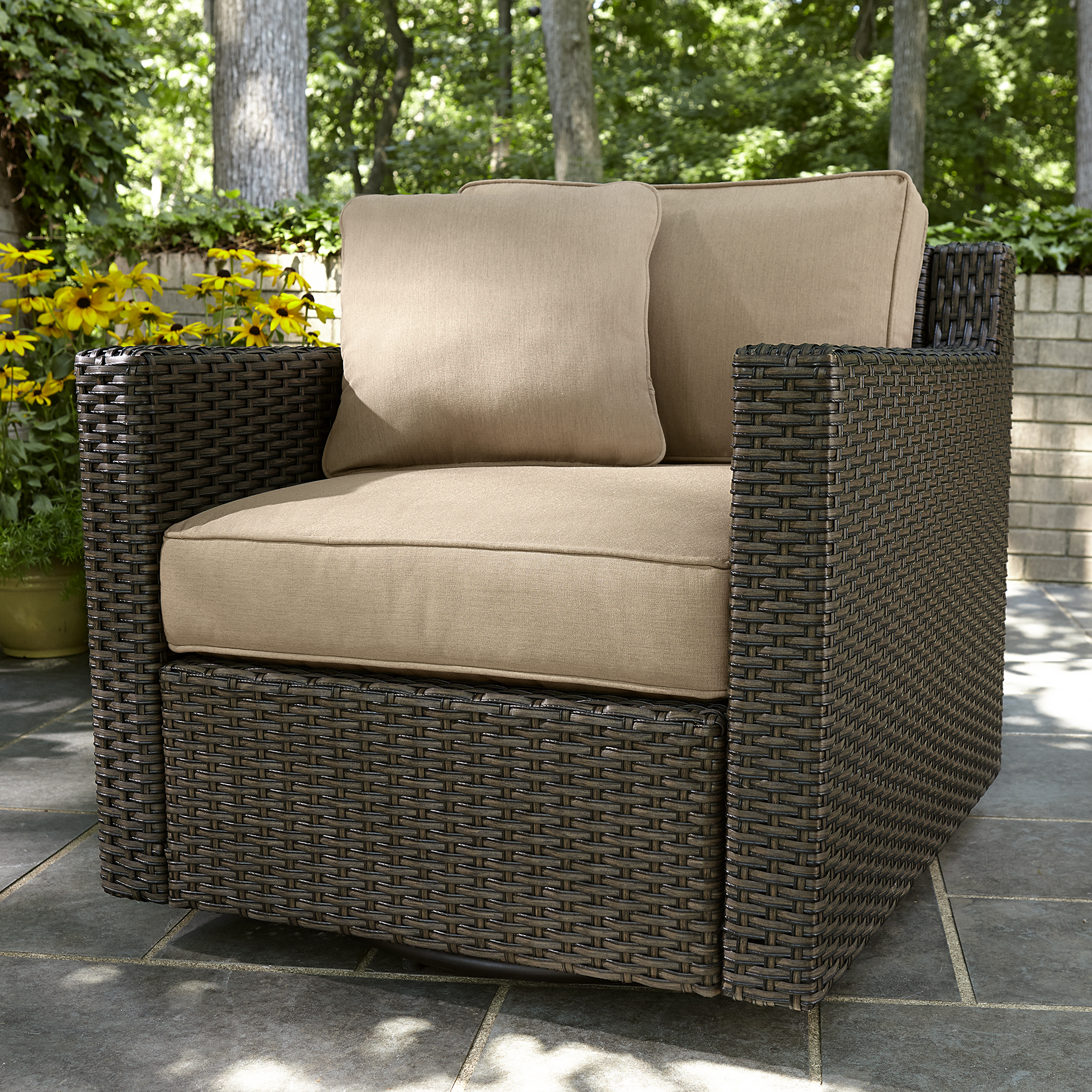 Agio International Moore Haven Woven Glider- Neutral