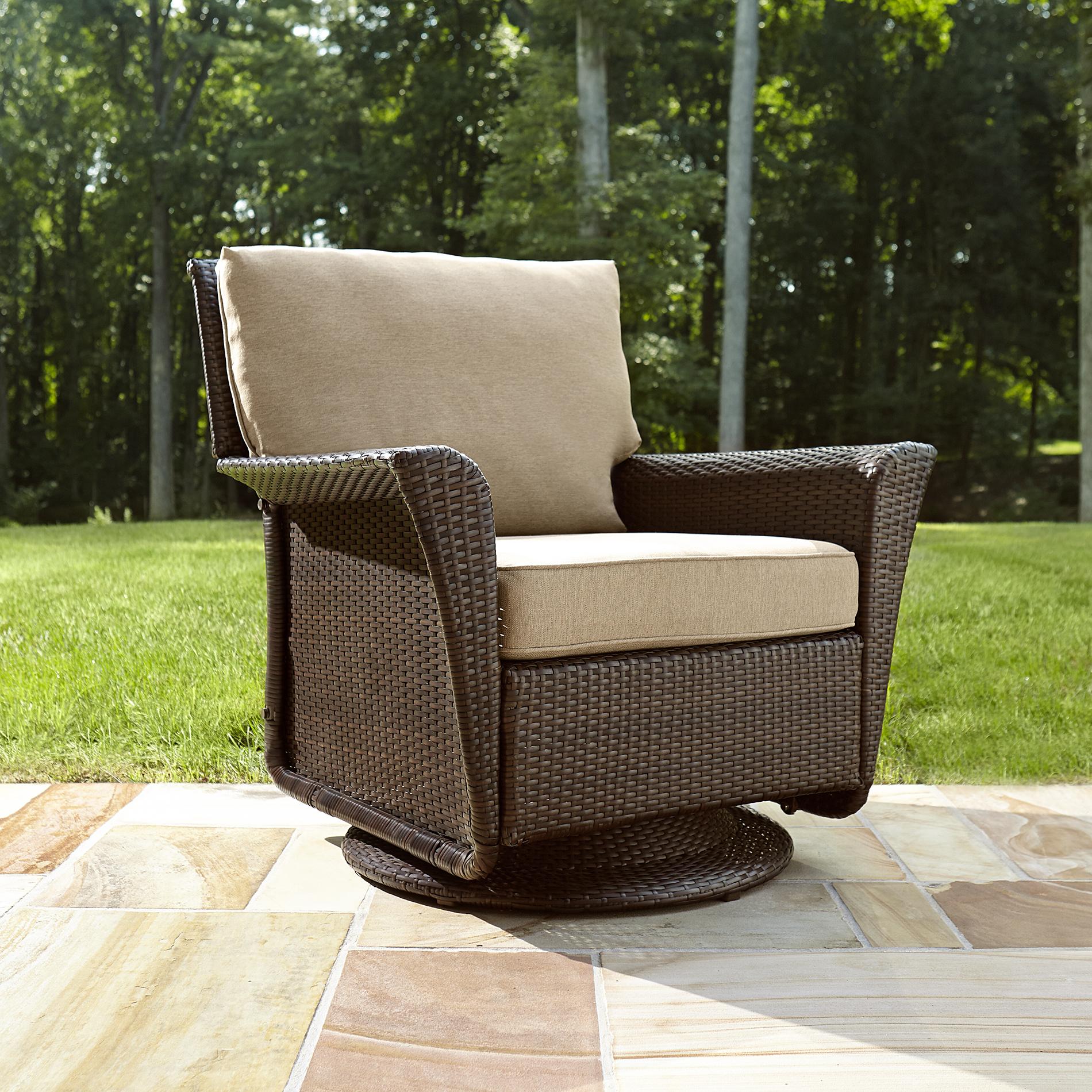 Attirant Ty Pennington Style Parkside Swivel Glider Chair