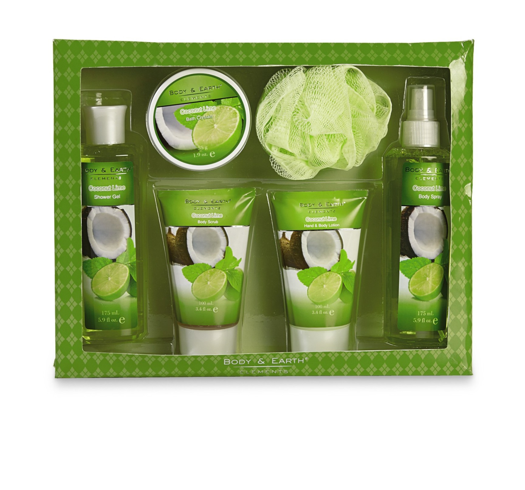 Body Amp Earth Coconut Lime Bath Gift Set Beauty Bath