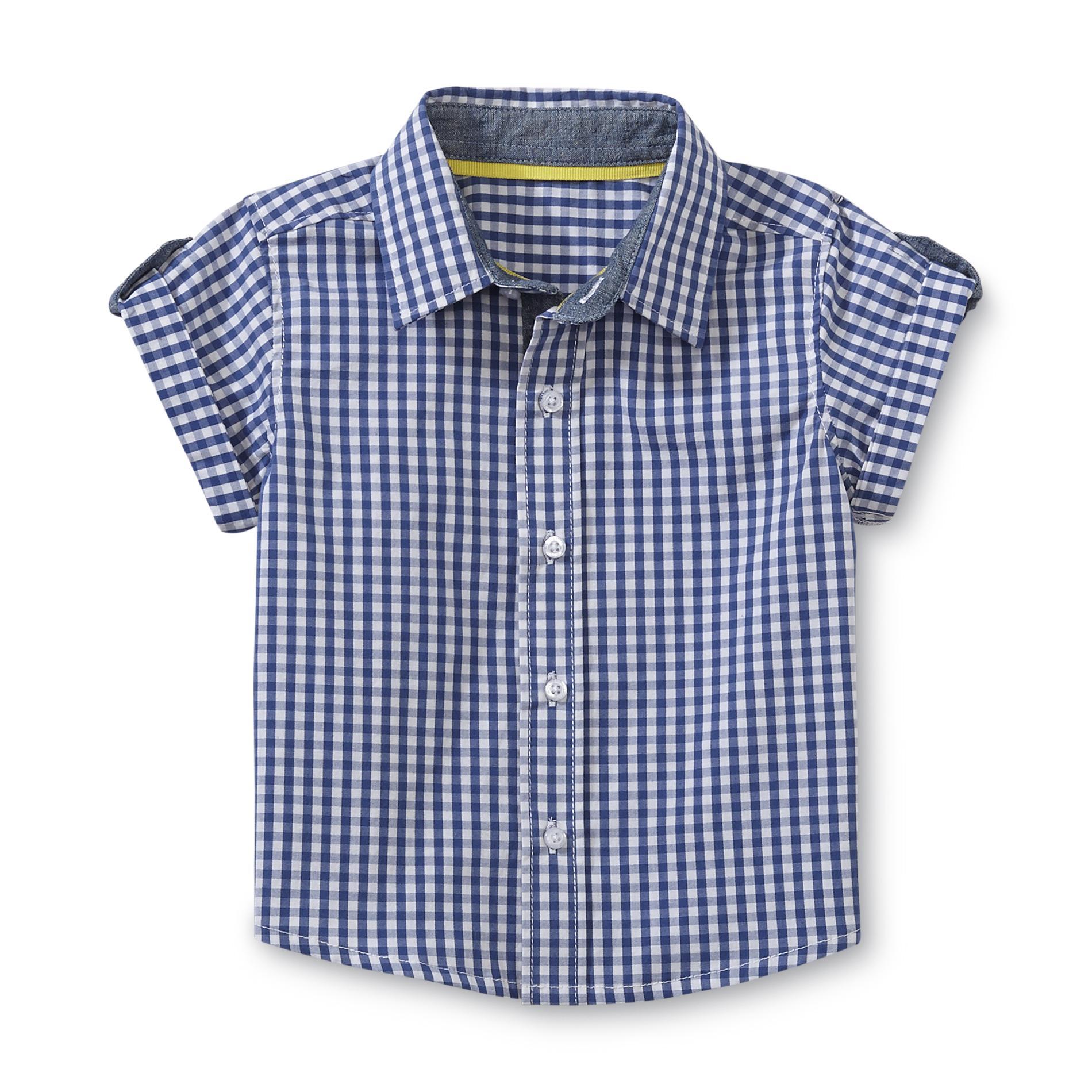 Newborn & Infant Boy's Short-Sleeve Shirt - Gingham