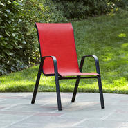 Essential Garden Bartlett Solid Red Stack Chair at Sears.com