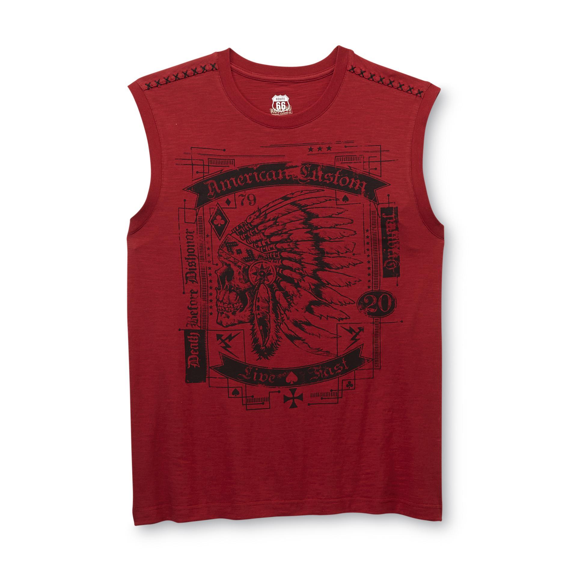 Route 66 Men's Muscle Shirt - Skull