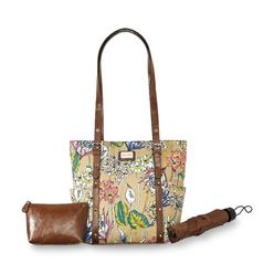 Jaclyn Smith Women's Supertote Handbag, Wristlet & Umbrella - Floral at Kmart.com