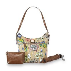 Jaclyn Smith Women's Supertote Hobo Bag, Umbrella & Cosmetic Bag - Floral at Kmart.com