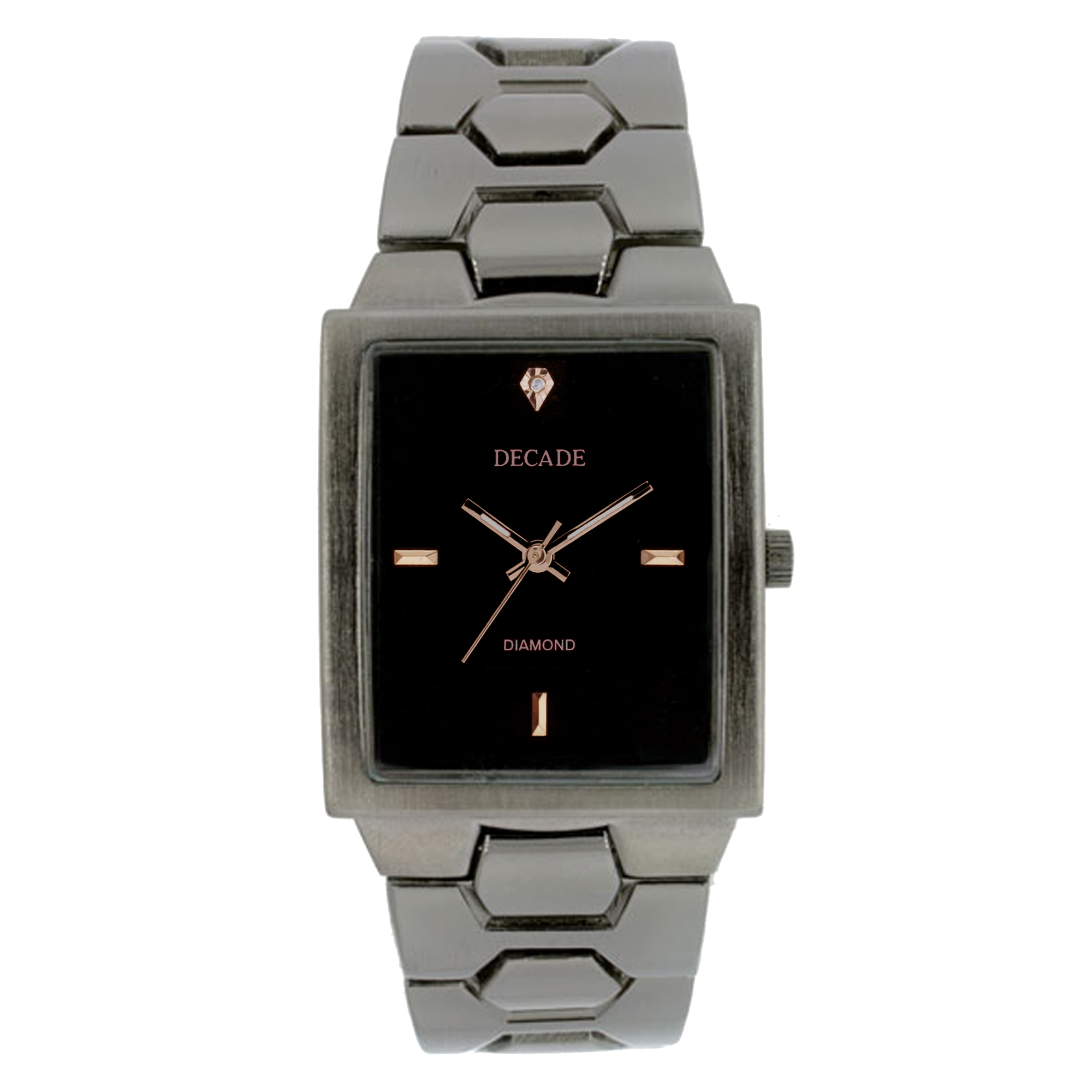 Gunmetal Geniune Diamond Dial Watch