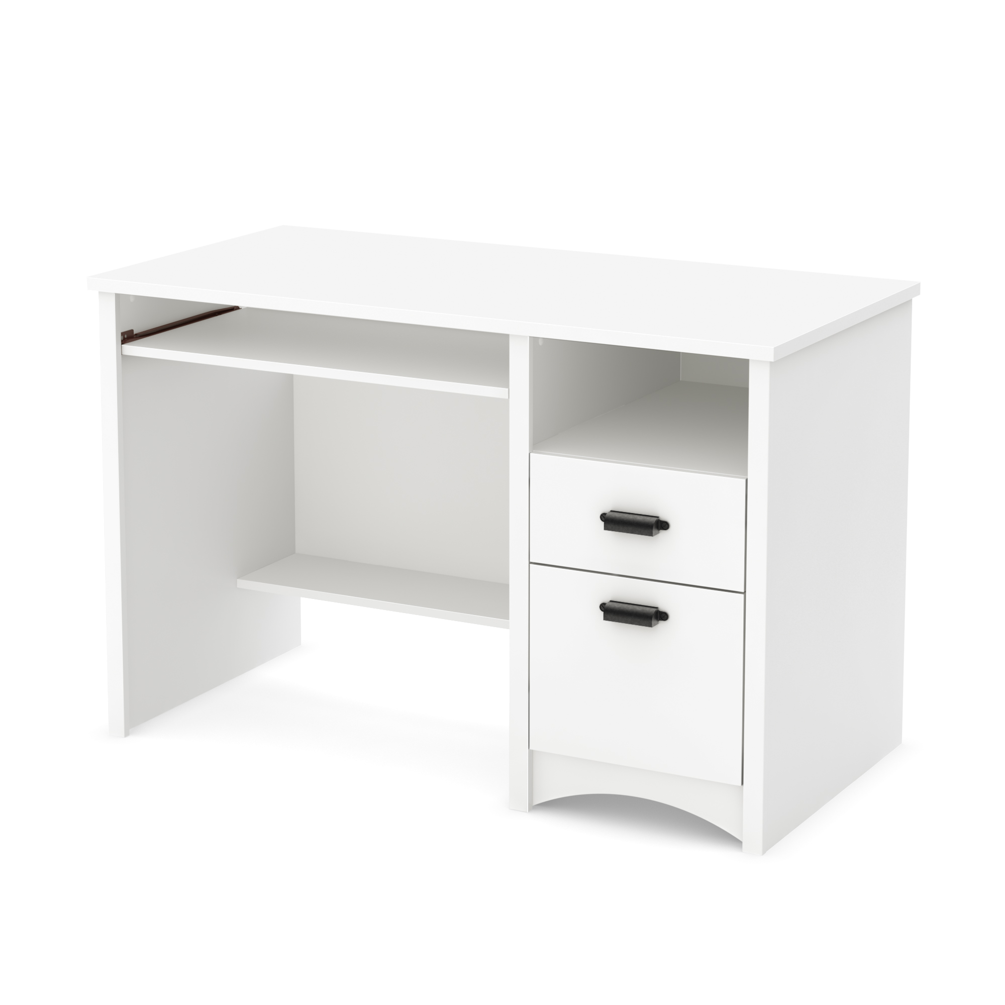 South Shore Gascony Computer Desk With Keyboard Tray Pure