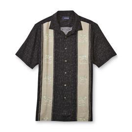 Basic Editions Men's Camp Shirt - Island Print at Kmart.com