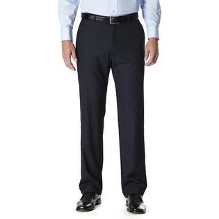 Haggar Men's Flat Front Dress Pants - Pinstripe