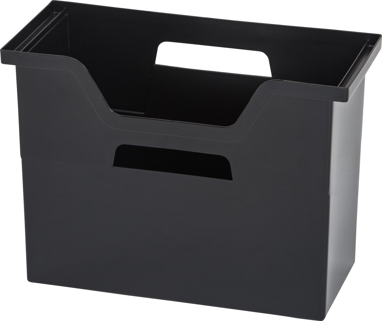 Iris Usa, Inc. 6-Piece Desktop File Box  Medium  Black PartNumber: 00817876000P KsnValue: 7131850 MfgPartNumber: 585283