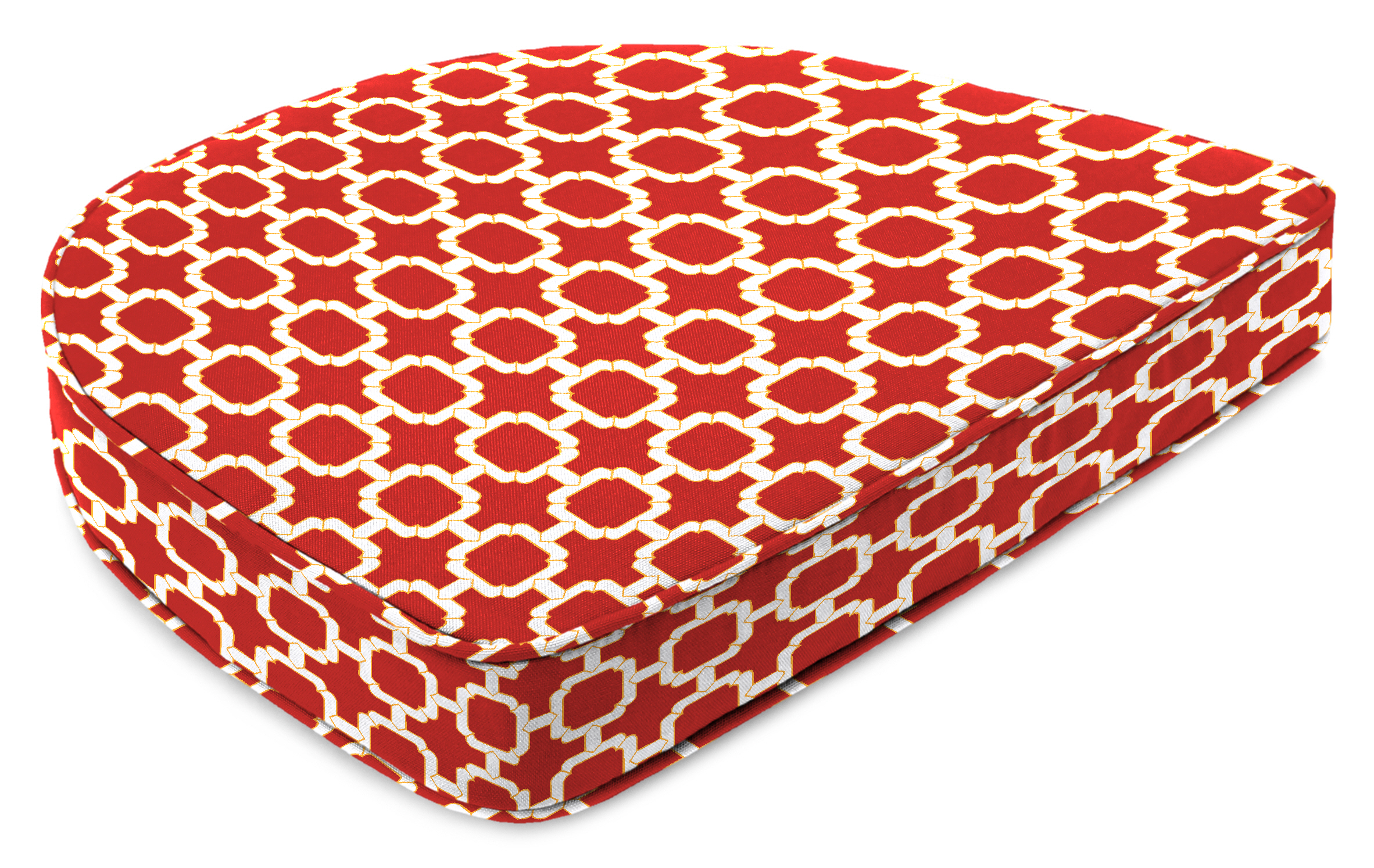 Jordan Manufacturing Co., Inc. Contoured Boxed Patio Chair Cushion in Hockley Red