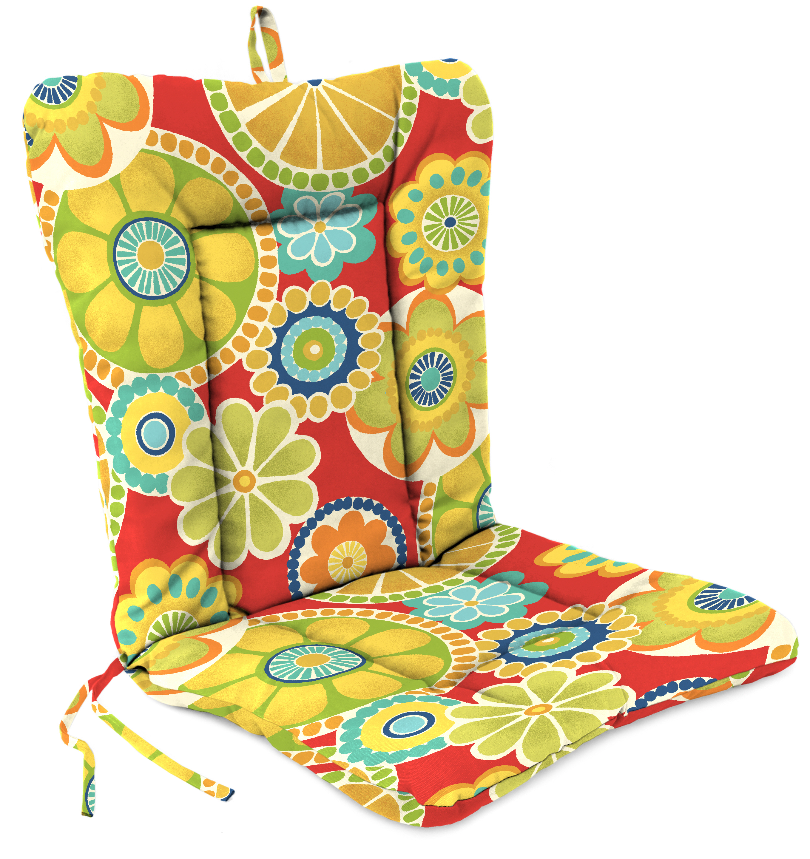 Jordan Manufacturing Co., Inc. Dinalounge Patio Chair Cushion in Rosewell Poppy