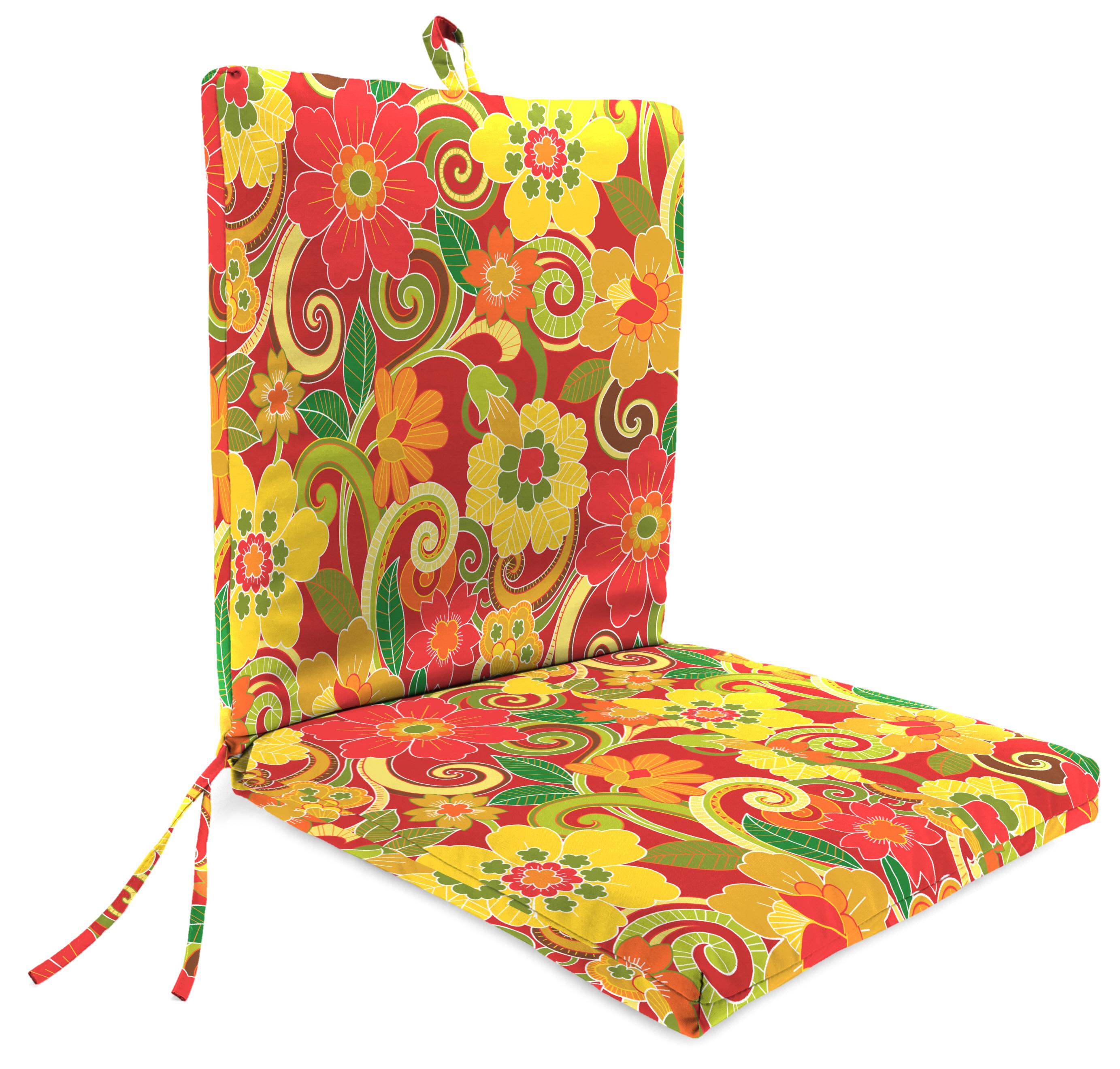 Jordan Manufacturing Co., Inc. Clean Look Patio Chair Cushion in Rollingmead Sangria