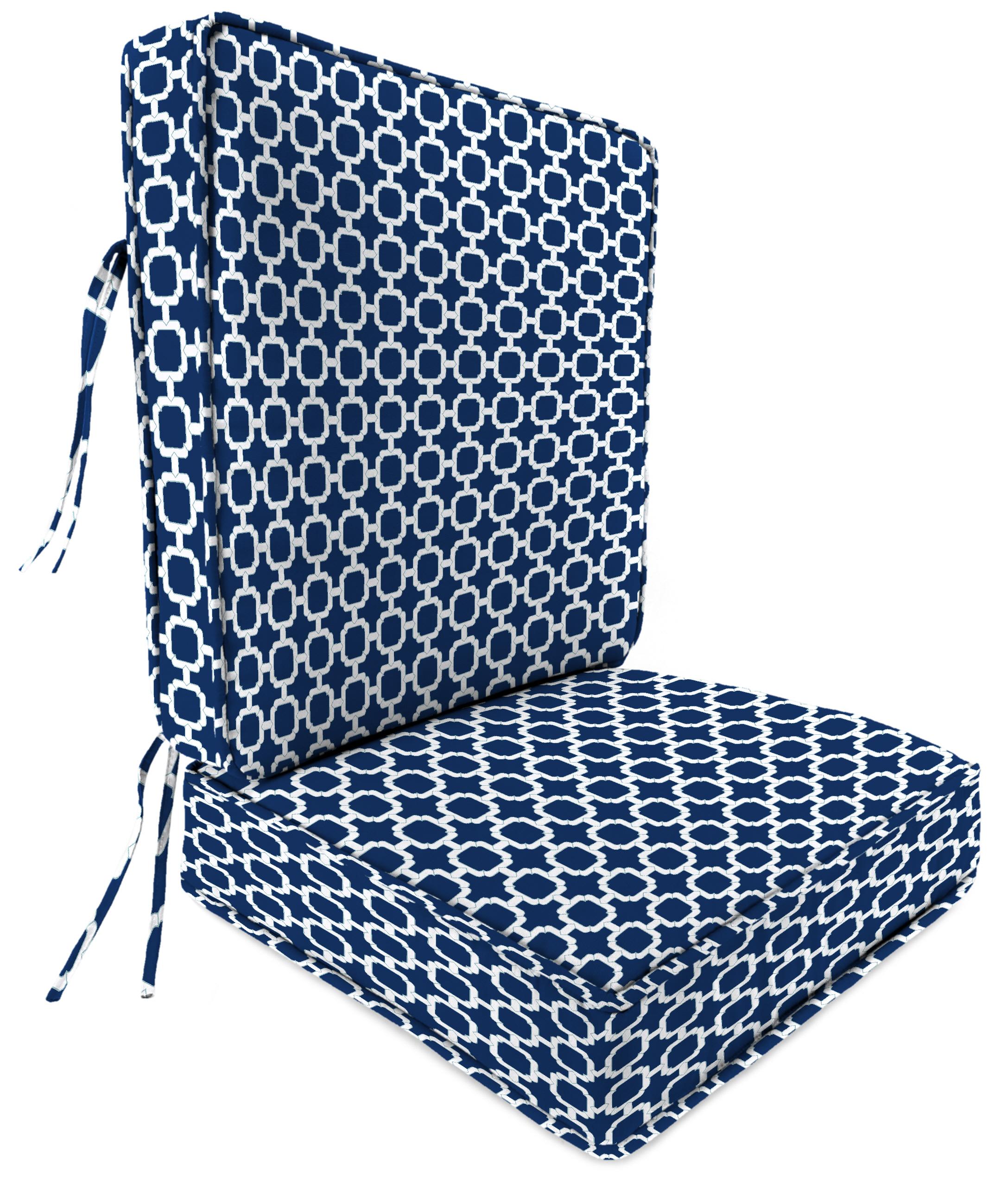 Jordan Manufacturing Co., Inc. Patio Deep Seat Patio Chair Cushion in Hockley Navy