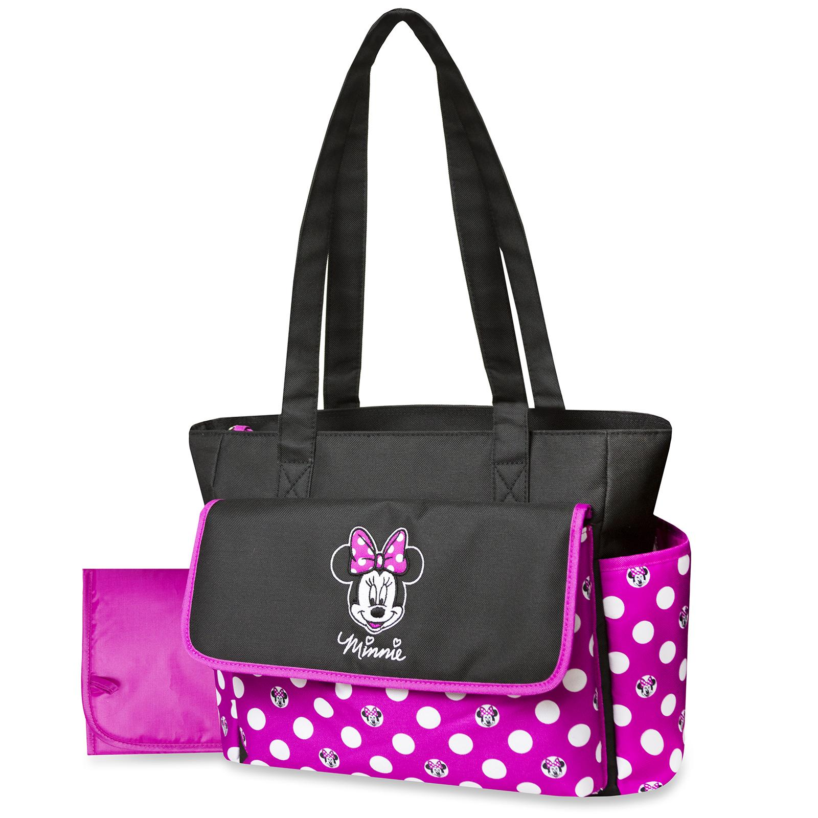 Disney Minnie Mouse Diaper Bag & Changing Pad - Polka Dots,  Pink