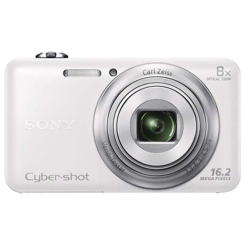Sony RECONDITIONED SONY 1080P 16 MP 2.7 INCH DIGITAL CAMERA W/ WIFI (WHITE) - DSC-WX80/W