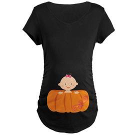 CafePress Maternity Halloween Pumpkin Baby T-Shirt - Online Exclusive at Kmart.com