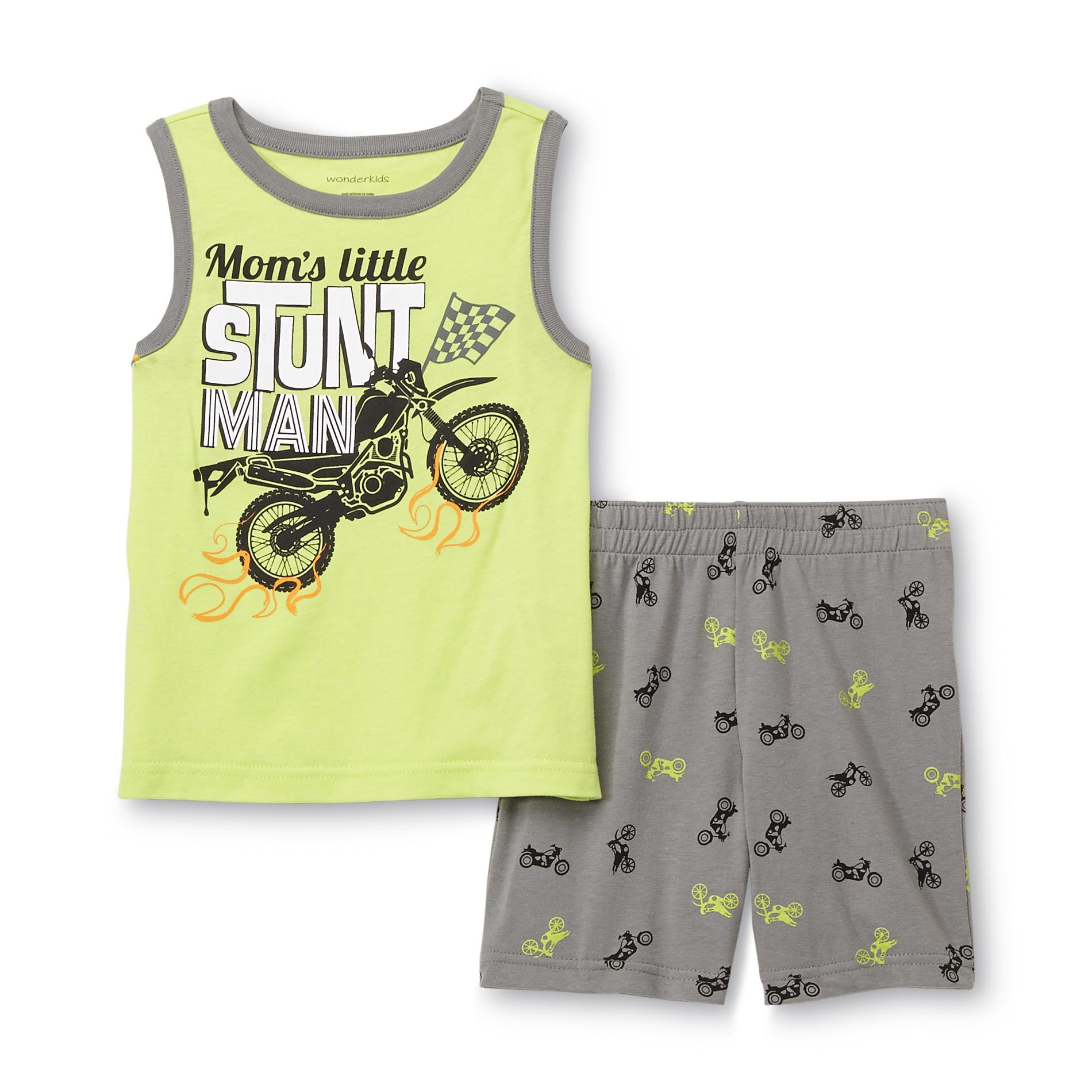 WonderKids Toddler Boy's Graphic Tank Top & Shorts - Dirt Bike