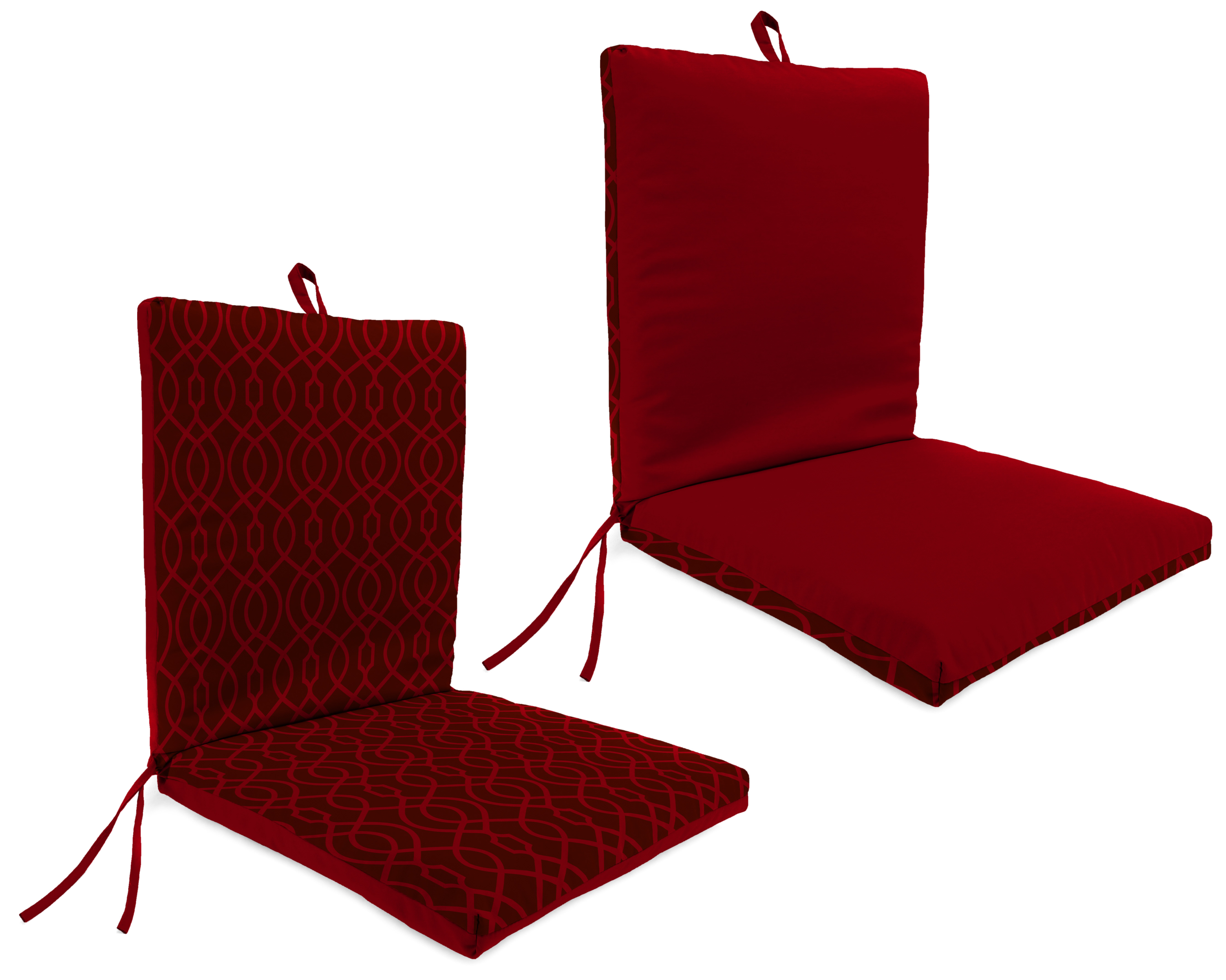 Garden Oasis Margate Red Clean Look Patio Chair Cushion