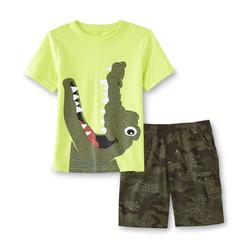 WonderKids Infant & Toddler Boy's Graphic T-Shirt & Shorts - Croc & Camo at Kmart.com