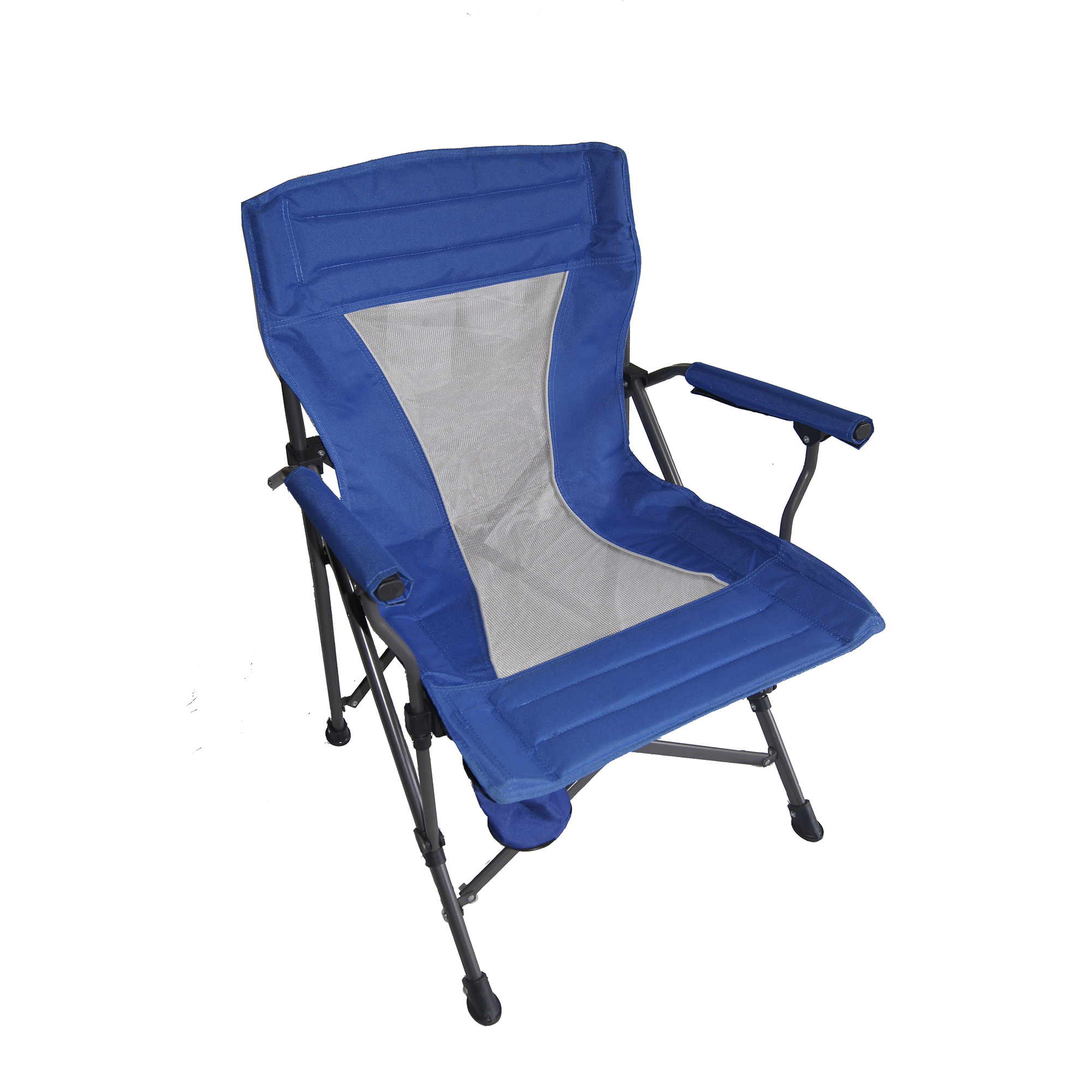 Ore International 36 Inch Portable Folding Blue Chair