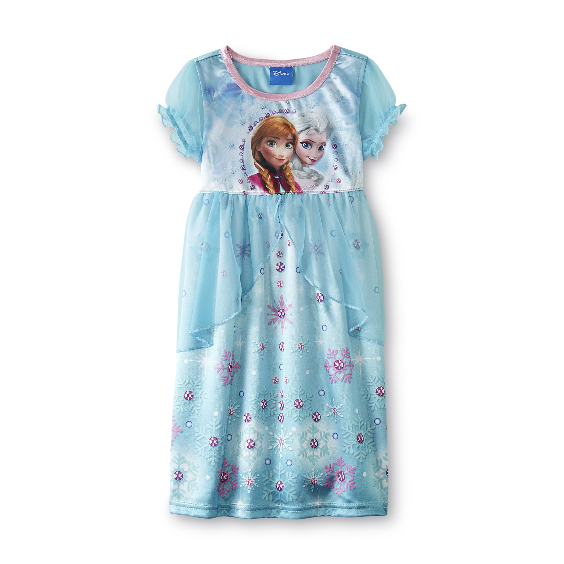Disney Baby Frozen Toddler Girl's Nightgown - Anna & Elsa