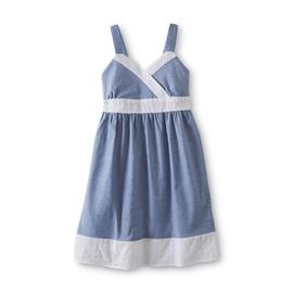 Basic Editions Girl's Chambray Sundress at Kmart.com