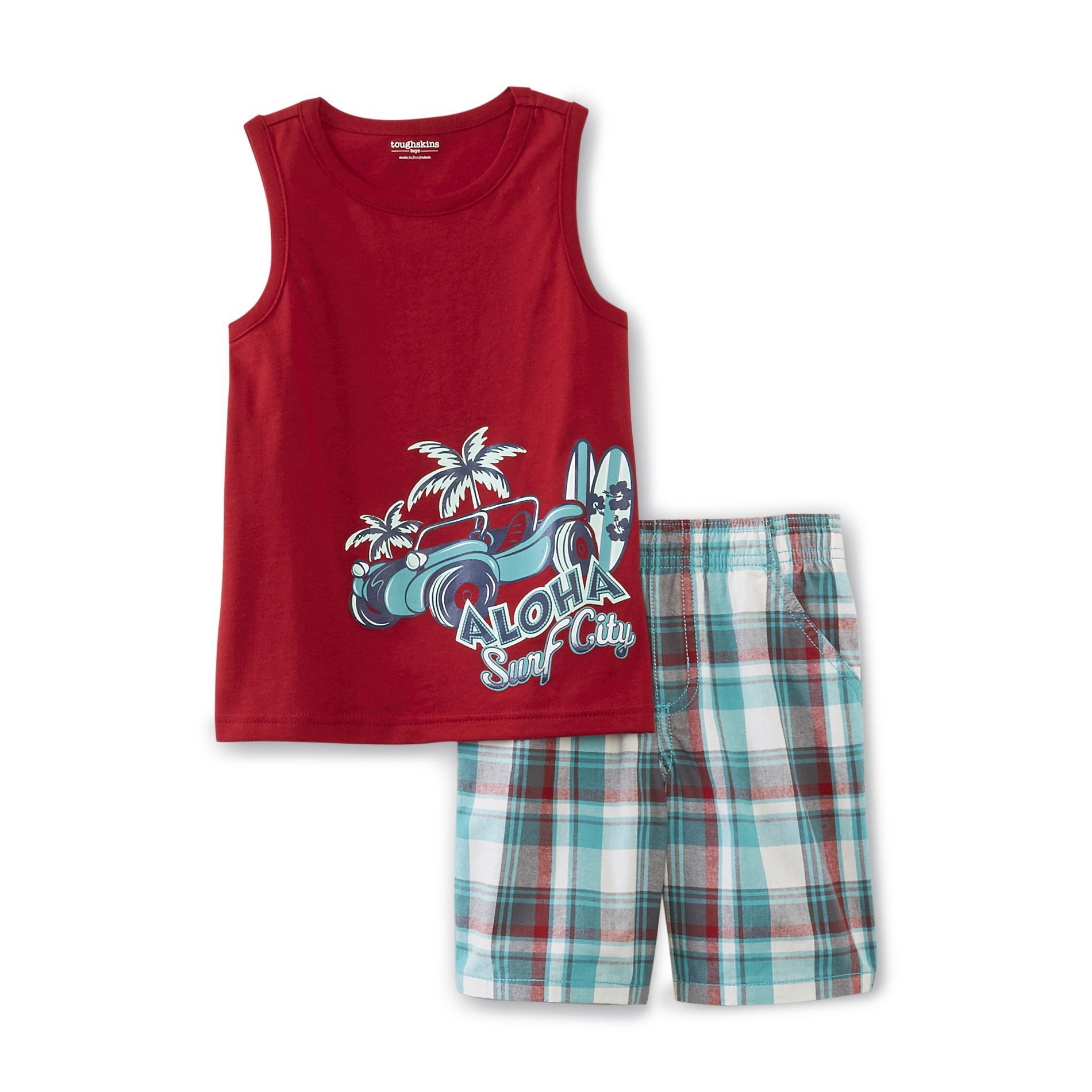 Toughskins Infant & Toddler Boy's Muscle Shirt & Shorts - Surfboards