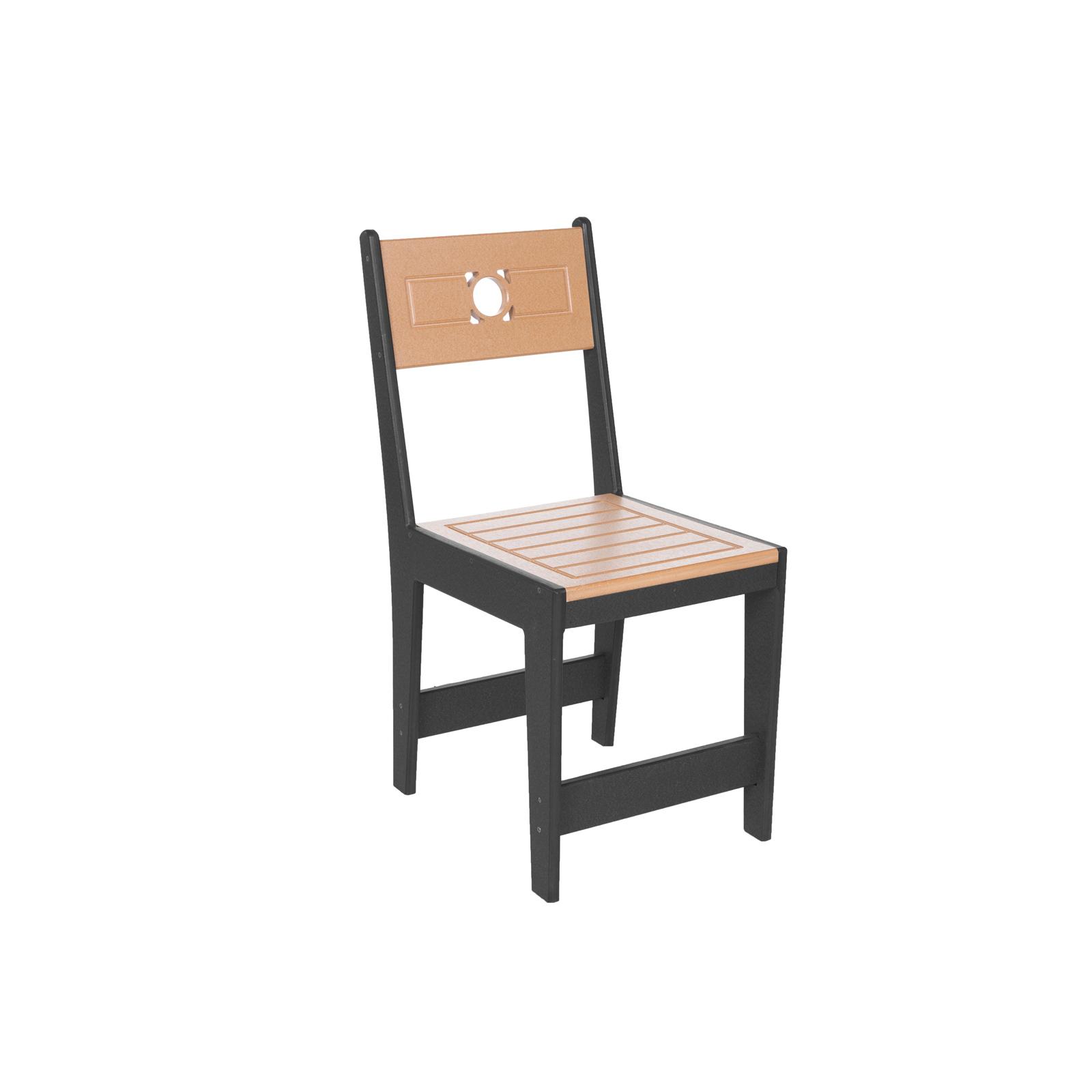 Eagle One Café Commercial Grade Two-Tone Dining Chair, Black/Cedar