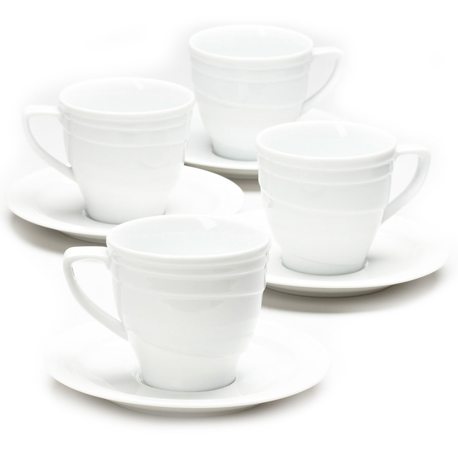 Elan 4pc tea cup and saucers PartNumber: 02479651000P KsnValue: 7273581 MfgPartNumber: 2214909