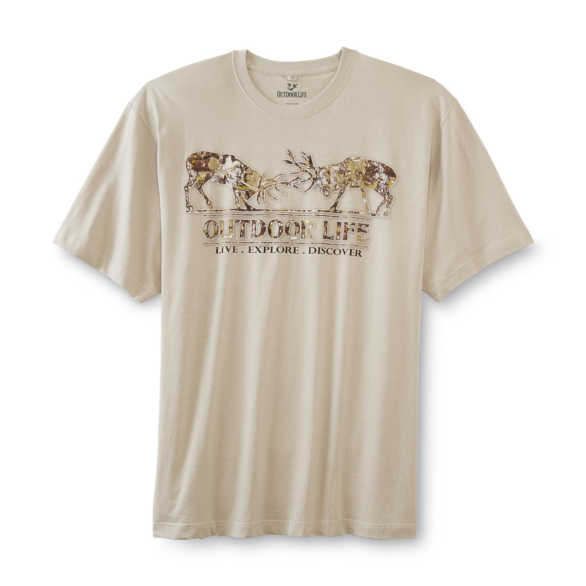 Outdoor Life Men's Big & Tall Graphic T-Shirt - Camo Deer