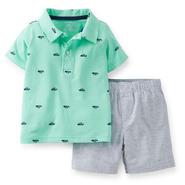 Carter's Toddler Boy's Polo Shirt & Shorts - Ships & Striped at Sears.com