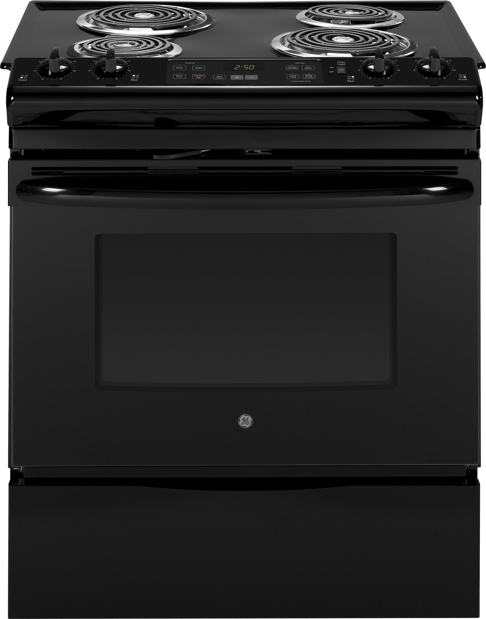 GE Appliances 30 Slide-In Electric Range - Black