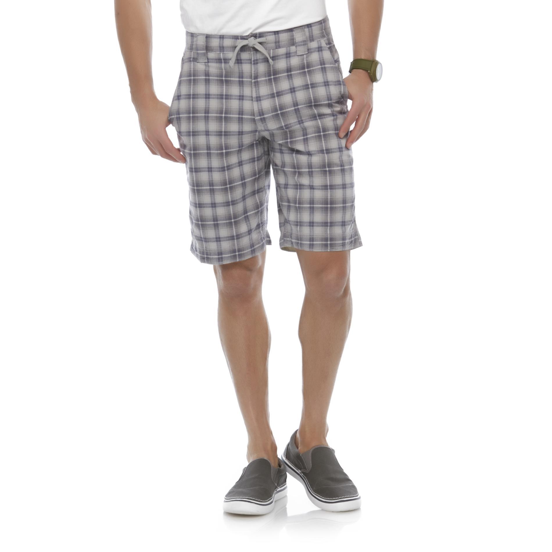 Men's Flat-Front Walking Shorts - Plaid