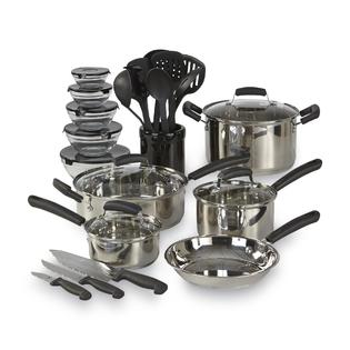 Essential Home 25-Piece Mega Cookware Set