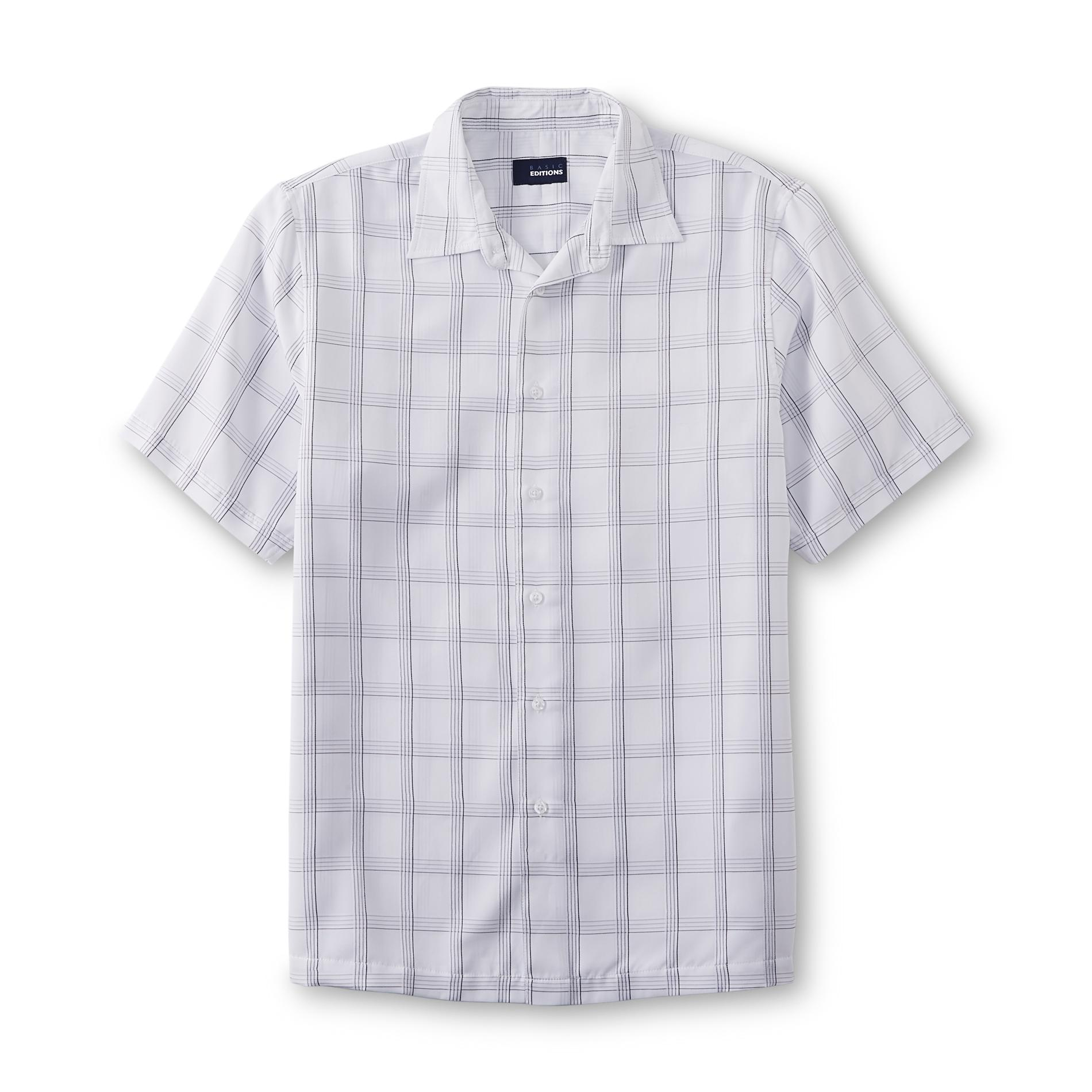 Basic Editions  Men's Woven Button-Front Shirt - Plaid