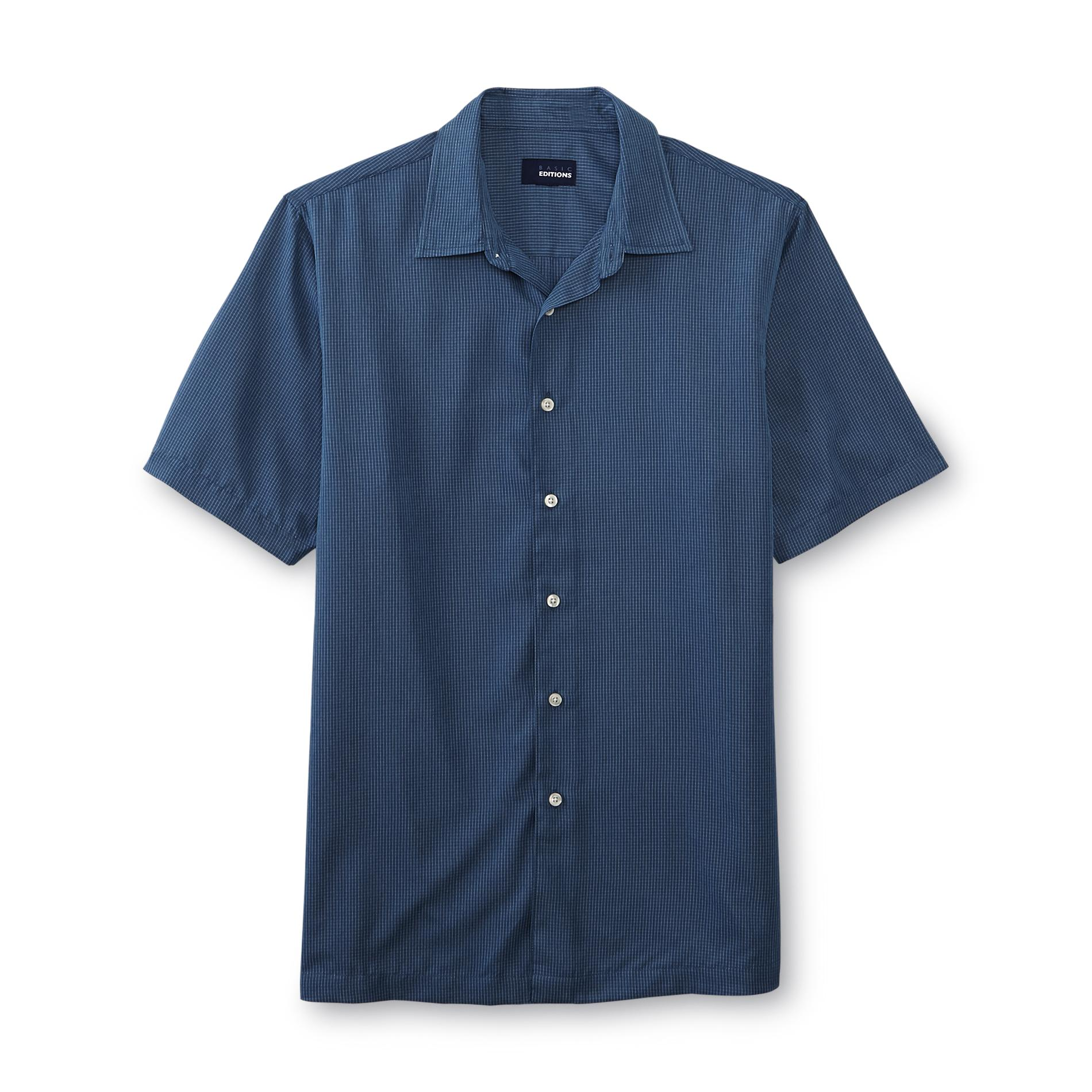 Basic Editions  Men's Woven Button-Front Shirt