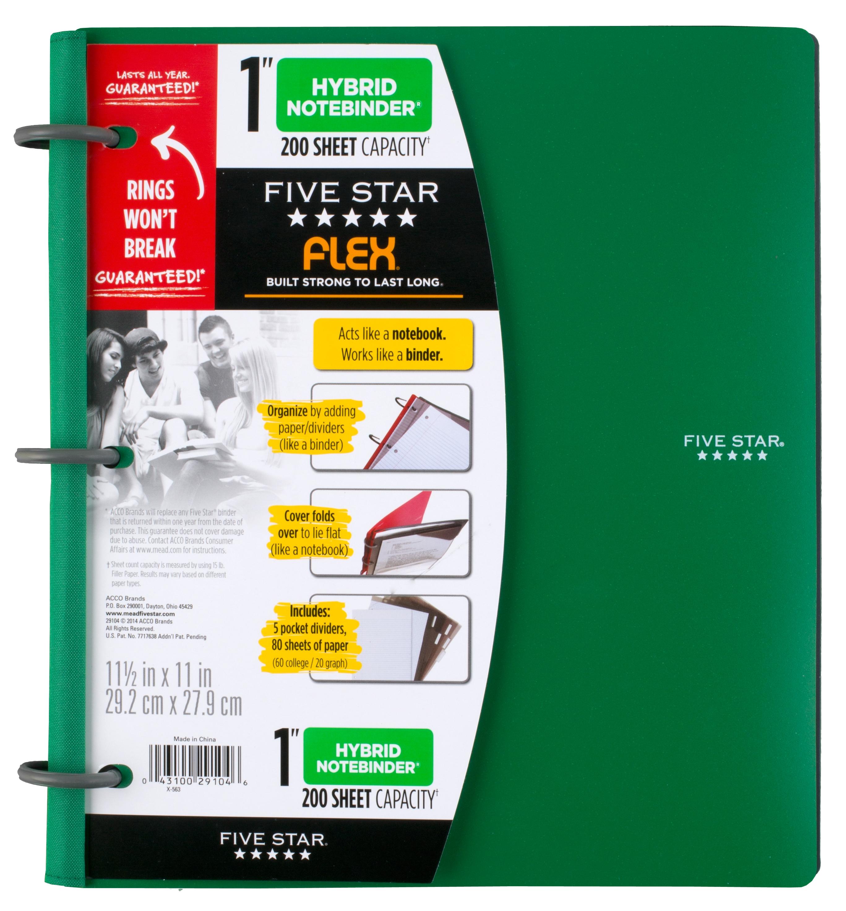 Mead Five Star Large Flex NoteBinder, Teal