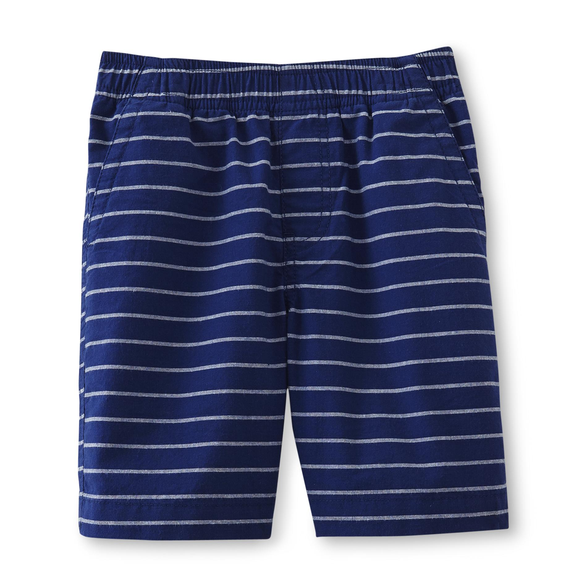 Basic Editions Boy's Comfort-Waist Woven Shorts - Striped