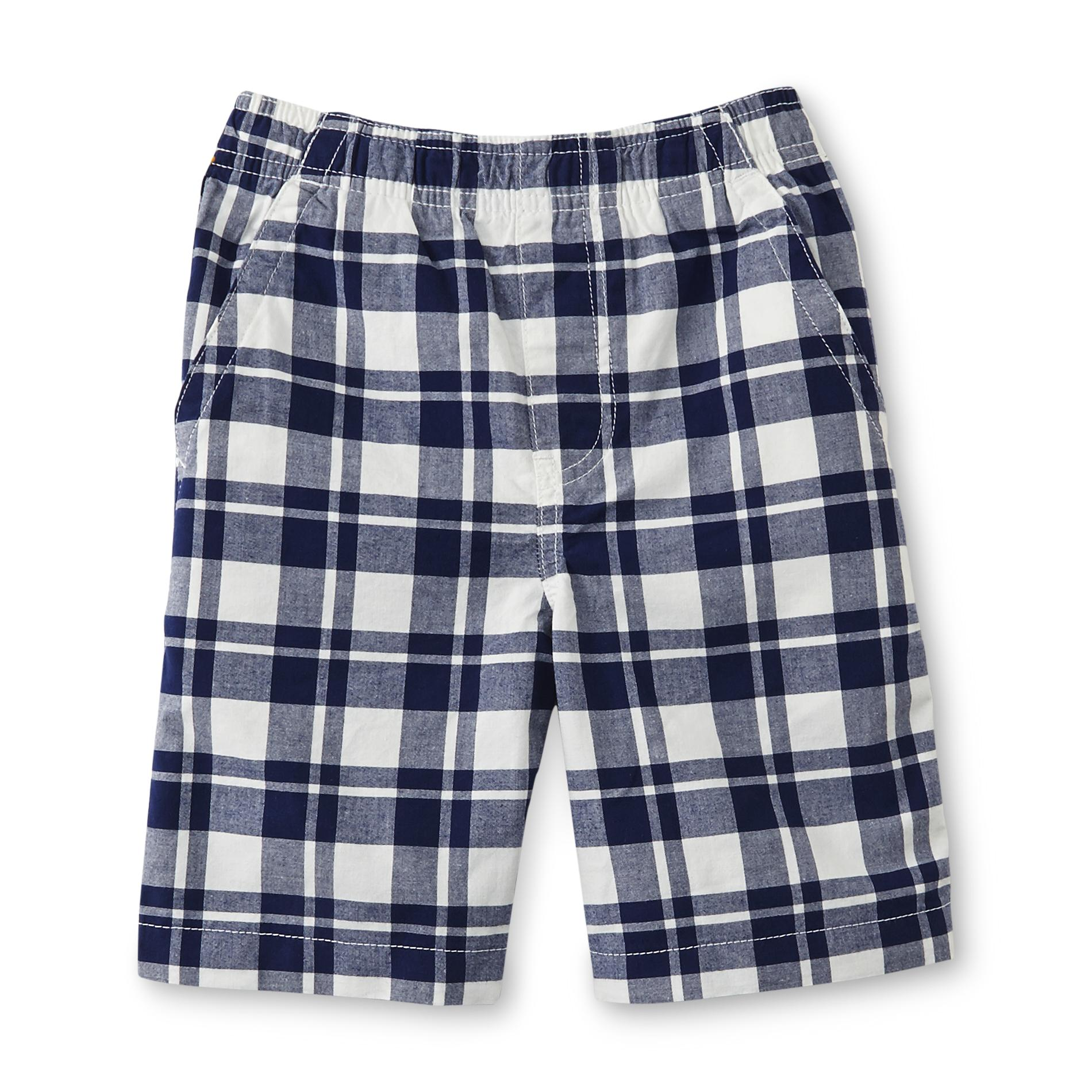 Basic Editions Boy's Comfort-Waist Woven Shorts - Plaid
