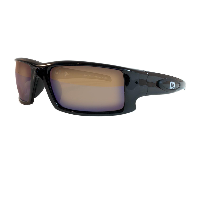 Amphibia Depthcharge Black Frame w Vapor Wave Lens Sunglass