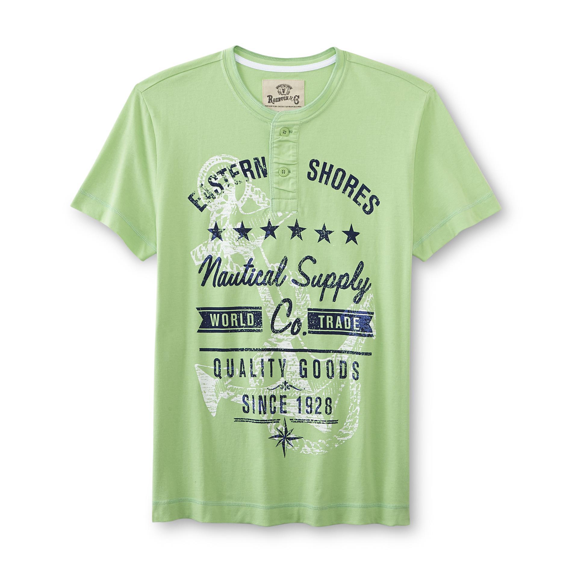 Roebuck & Co. Young Men's Graphic Henley Shirt - Nautical