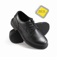 Genuine Grip Men's Slip-Resistant Steel Toe Oxfords Work Shoes #7110 Black at Kmart.com