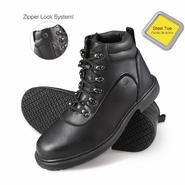Genuine Grip Men's Slip-Resistant Steel Toe Zipper Work Boots #7130 Black at Kmart.com