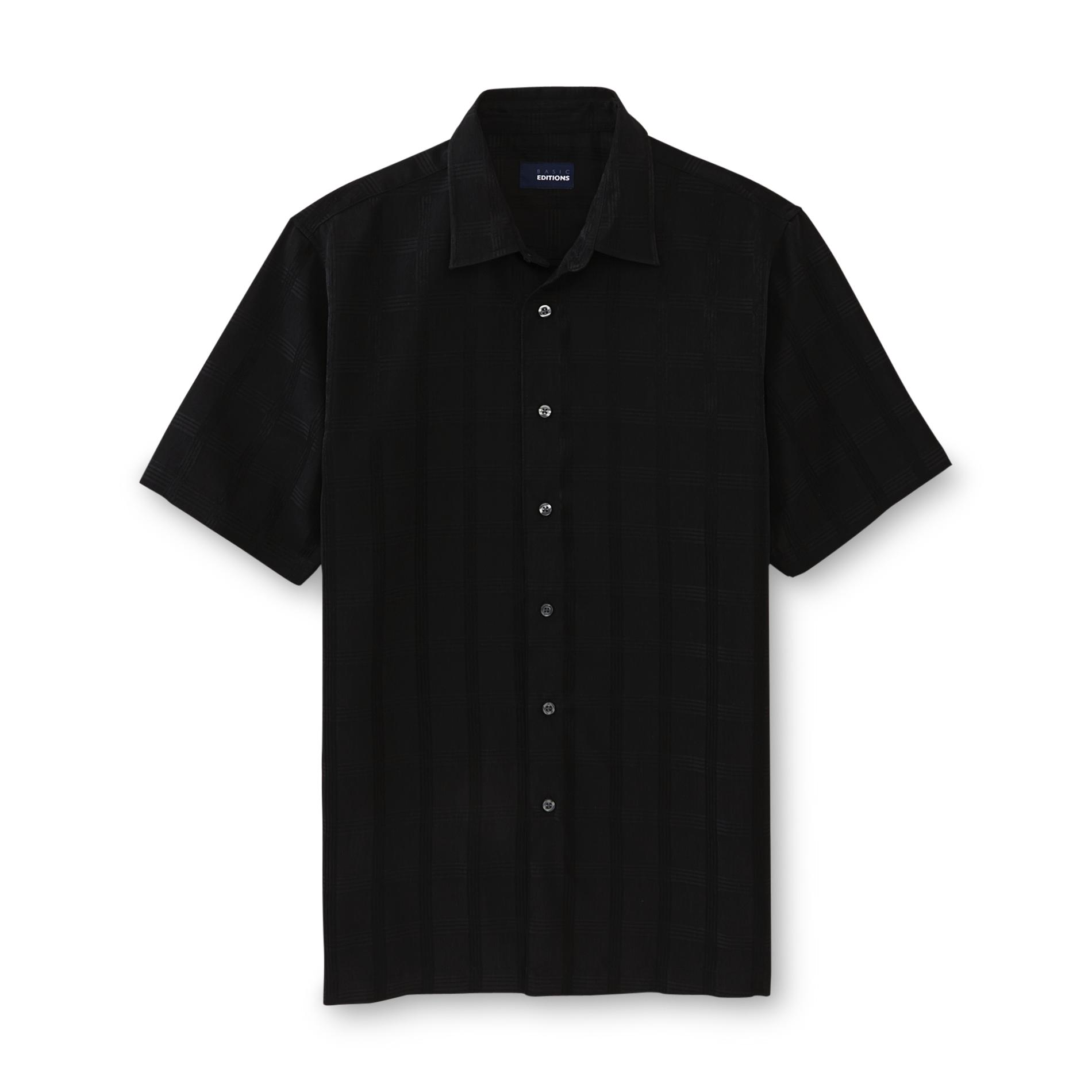 Basic Editions  Men's Woven Button-Front Shirt - Grid