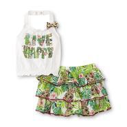 WonderKids Toddler Girl's Halter Top & Scooter Skirt - Jungle Print at Kmart.com